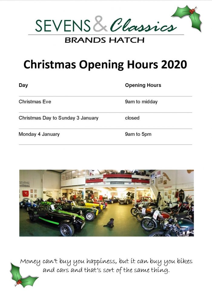 Opening Times 2020